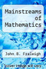 cover of Mainstreams of Mathematics