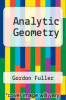 cover of Analytic Geometry (4th edition)