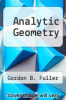 cover of Analytic Geometry (5th edition)