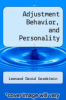 cover of Adjustment Behavior, and Personality (2nd edition)