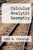 cover of Calculus Analytic Geometry (1st edition)