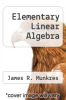 cover of Elementary Linear Algebra