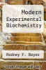 cover of Modern Experimental Biochemistry