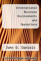 Cover of International Business Environments and Operations 4 (ISBN 978-0201107135)