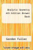 cover of Analytic Geometry 6th Edition Answer Book