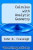 cover of Calculus with Analytic Geometry (2nd edition)