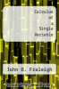 cover of Calculus of a Single Variable