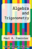 cover of Algebra and Trigonometry