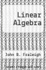 cover of Linear Algebra (2nd edition)