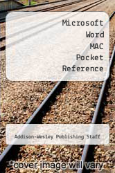 Cover of Microsoft Word MAC Pocket Reference  (ISBN 978-0201517545)