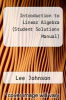 cover of Introduction to Linear Algebra (Student Solutions Manual) (3rd edition)