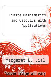 Cover of Finite Mathematics and Calculus with Applications 6 (ISBN 978-0201773224)