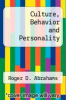 cover of Culture, Behavior and Personality