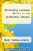 cover of Developing Language Skills in the Elementary Schools (5th edition)
