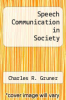 cover of Speech Communication in Society (2nd edition)