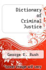 cover of Dictionary of Criminal Justice