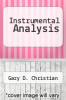 cover of Instrumental Analysis