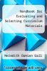 cover of Handbook for Evaluating and Selecting Curriculum Materials