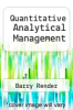 cover of Quantitative Analytical Management (2nd edition)