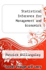 cover of Statistical Inference for Management and Economics (3rd edition)