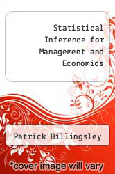 Statistical Inference for Management and Economics by Patrick Billingsley - ISBN 9780205086276