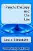 cover of Psychotherapy and the Law