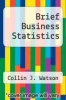cover of Brief Business Statistics