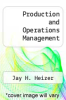 cover of Production and Operations Management
