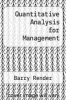 cover of Quantitative Analysis for Management (3rd edition)
