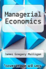 cover of Managerial Economics
