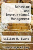 cover of Behavior and Instructional Management