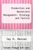 cover of Production and Operations Management: Strategy and Tactics (2nd edition)