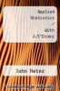 "cover of Applied Statistics / With 2-5""Disks (4th edition)"