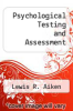 cover of Psychological Testing and Assessment (8th edition)