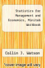 cover of Statistics for Management and Economics, Minitab Workbook (5th edition)