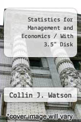 "Cover of Statistics for Management and Economics / With 3.5"" Disk 5TH 93 (ISBN 978-0205150373)"