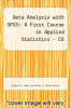 cover of Data Disc for Data Analysis with SPSS: A First Course in Applied Statistics - CD (4th edition)