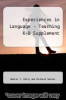 cover of Experiences in Language - Teaching K-8 Supplement