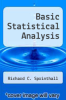 cover of Basic Statistical Analysis (5th edition)