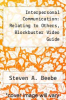 cover of Interpersonal Communication: Relating to Others, Blockbuster Video Guide (2nd edition)