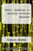 cover of Public Speaking : An Audience Centered Approach