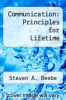 cover of Communication: Principles for Lifetime