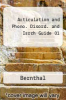 Articulation and Phono. Disord. and Isrch Guide 01 by Bernthal - ISBN 9780205357895