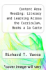 cover of Content Area Reading: Literacy and Learning Across the Curriculum, Books a la Carte Plus Mylabschool Blackboard/Webct (9th edition)
