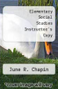 cover of Elementary Social Studies Instructor`s Copy