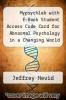cover of Mypsychlab with E-Book Student Access Code Card for Abnormal Psychology in a Changing World (Standalone) (7th edition)