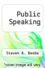cover of Public Speaking (1st edition)