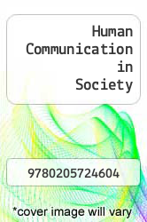 Cover of Human Communication in Society EDITIONDESC (ISBN 978-0205724604)