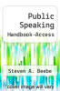 cover of Public Speaking Handbook-Access (3rd edition)