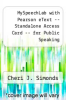 cover of MySpeechLab with Pearson eText -- Standalone Access Card -- for Public Speaking (1st edition)